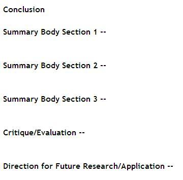 Essay Outline Examples