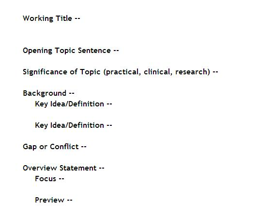 Dissertation writing outline
