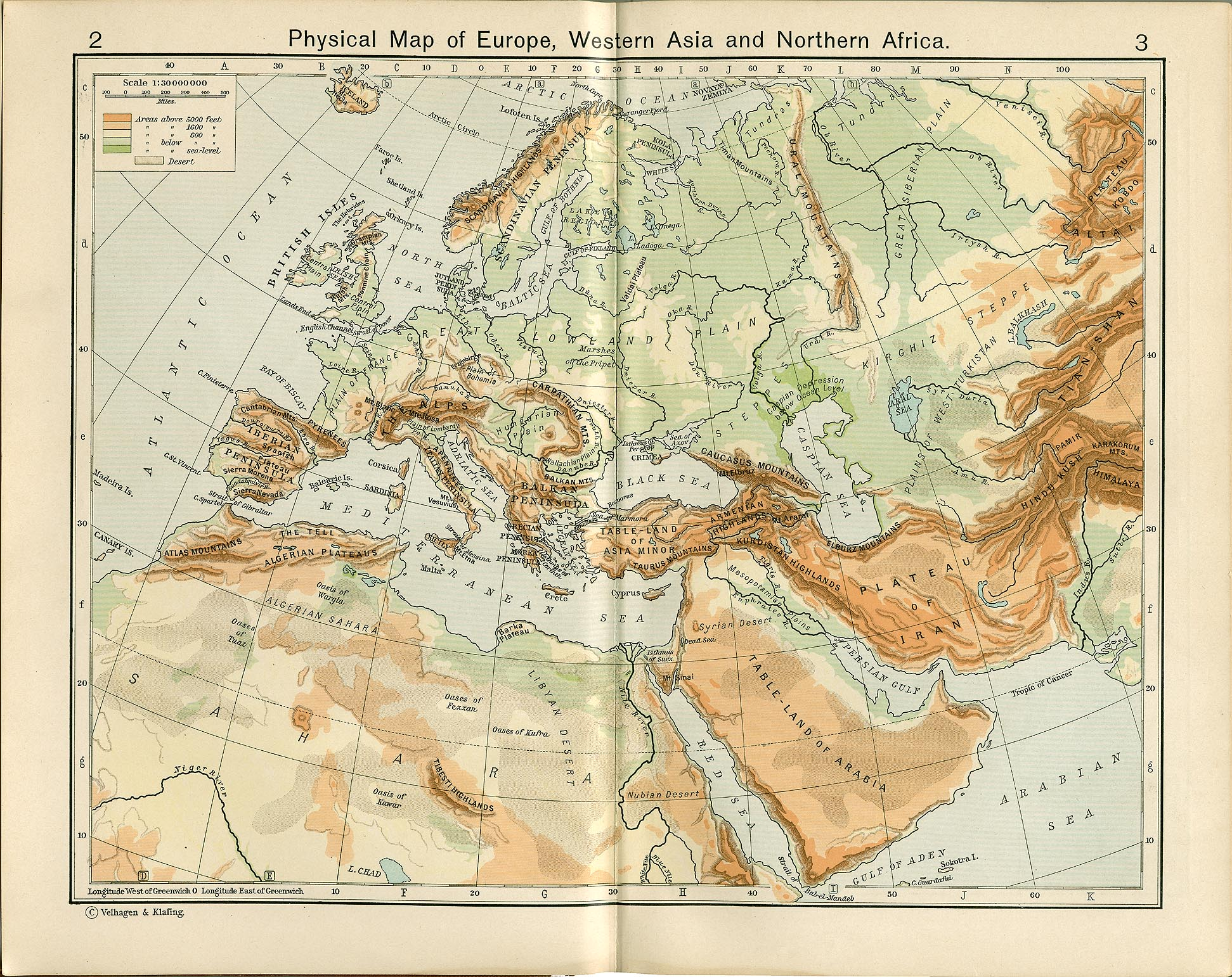 Historical atlas by william r shepherd perry castaeda map physical map of europe western asia and northern africa gumiabroncs Choice Image