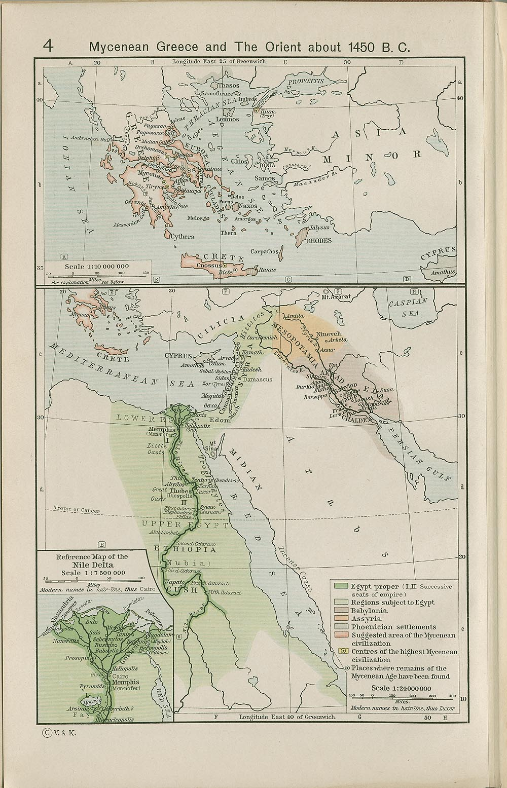 Historical Atlas By William R Shepherd PerryCastañeda Map - Map of egypt in 1450 bc