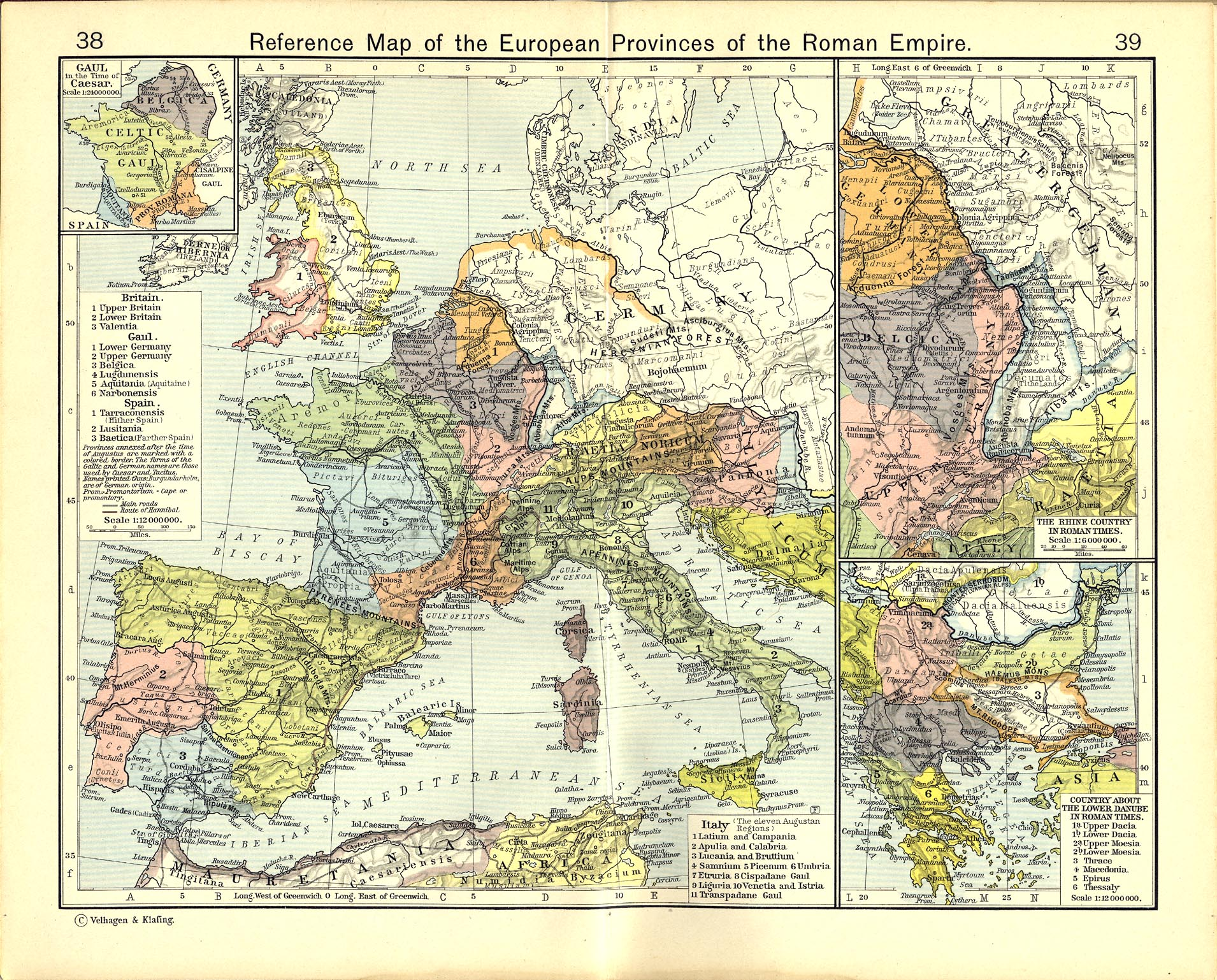 Historical atlas by william r shepherd perry castaeda map reference map of the european provinces of the roman empire gumiabroncs Choice Image