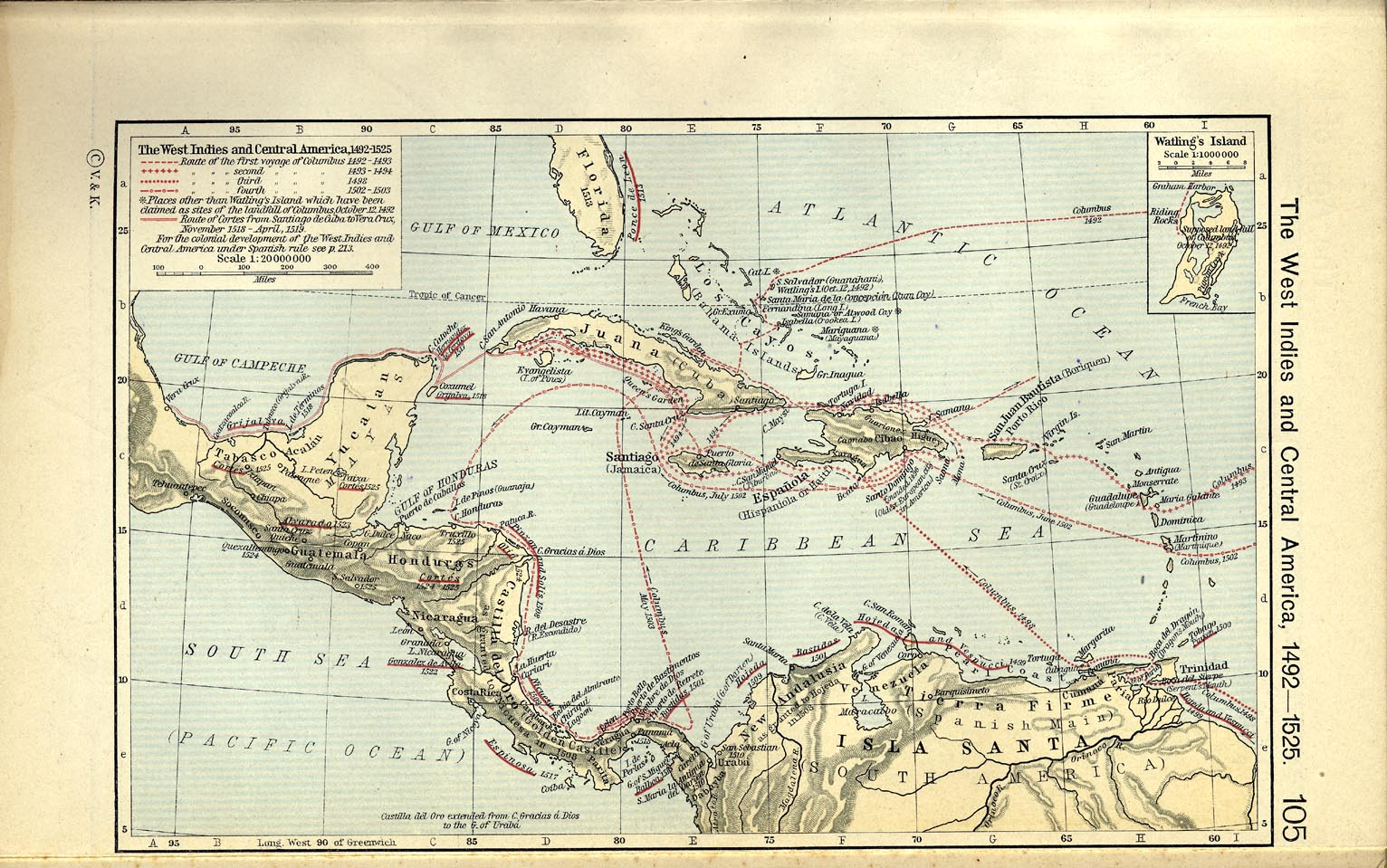 Historical Atlas By William R Shepherd PerryCastañeda Map - West indies central america 1763